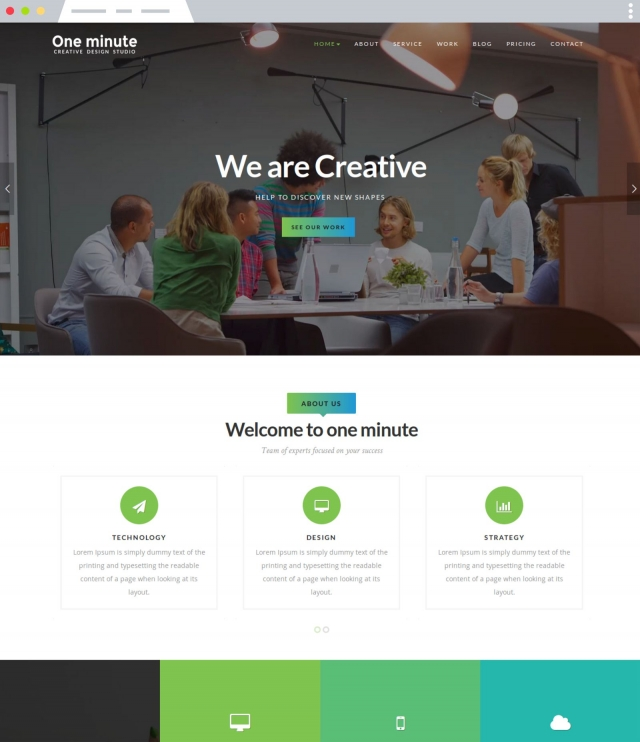 Oneminute - Joomla Template