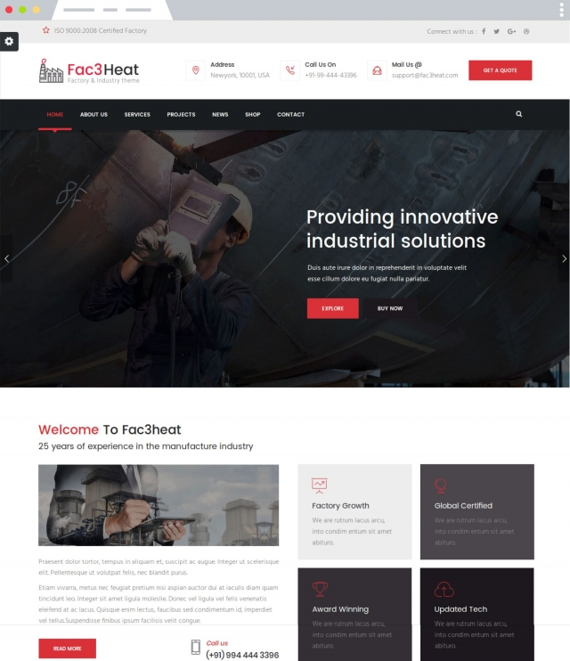 Fac3heat - Joomla Template